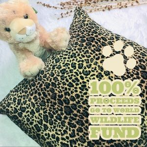 Leopard Throw Square Accent Pillow 21x21 Down Fill
